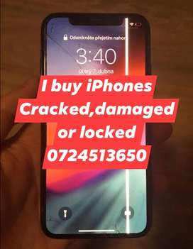 We buy used and damaged iPhones