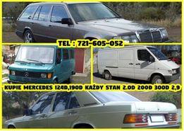 Skup Mercedes w201 . 190 2.0 diesel 2,5 D 190d CAŁY KRAJ kazdy stan