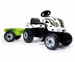 Трактор на педалях с прицепом Smoby COW FARMER XL 710113. Франция