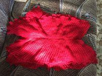 Новый красный шарф, демисезонный
