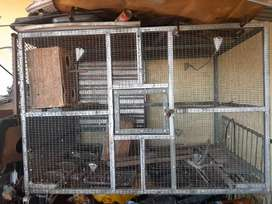 Large galvanised bird cage for sale
