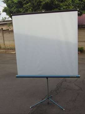 Projector Screen on Stand - 1300 x 1300mm