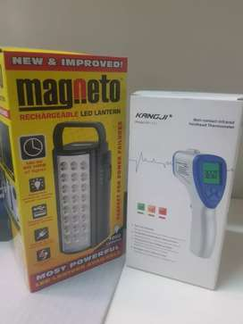 EMERGENCY lights and infrared Thermometer