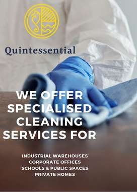 Quintessential cleaning and hygiene services