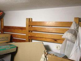 Łóżko piętrowe 90 x 190-170 cm drewno drewniane sosnowe, z drabinką