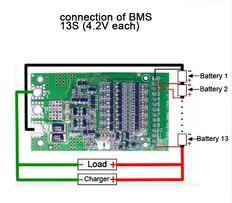 плата BMS 6S-13S 25 A. контроллер заряда, разряда 18650 Li-ion , Lipo