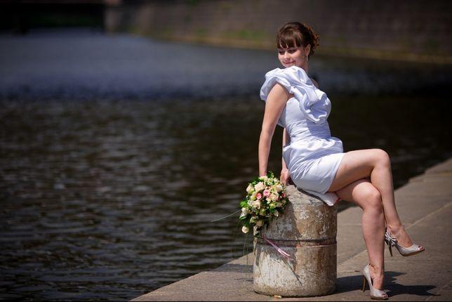 Свадебное платье короткое разм 42-46 Харьков - изображение 1