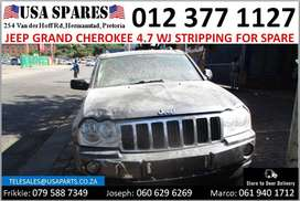 Jeep Grand Cherokee 4.7 WJ 1999-04 stripping for used spares