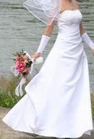 Suknia ślubna biała r. 36-38