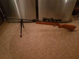 Ultratec air rifle with Gamo scope and bipod