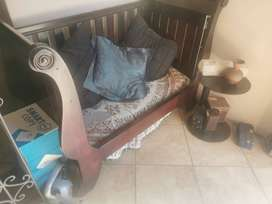 Wooden baby cot/ bench