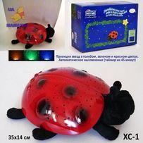 Ночник мягкая Божья коровка-ночник проектор звездного неба - игрушка