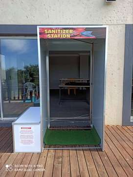 Sanitize booths
