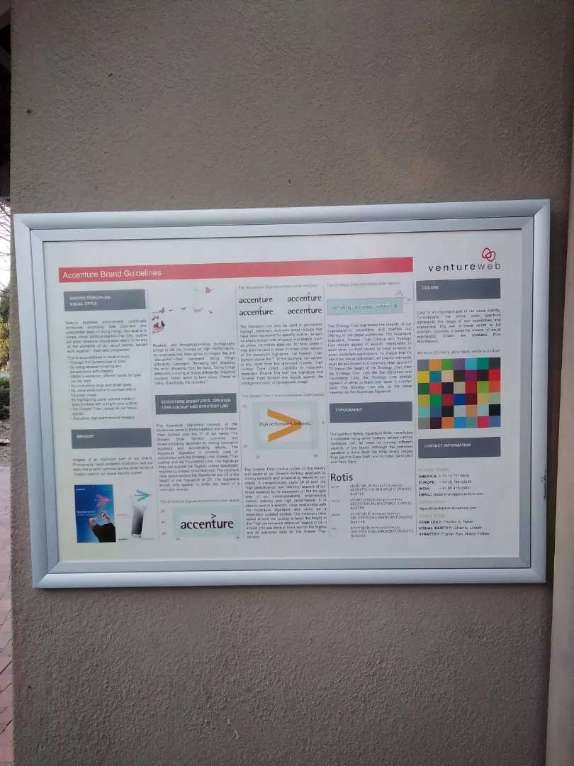 Large Snap Frame/ Poster  Holder (With perspex) 0