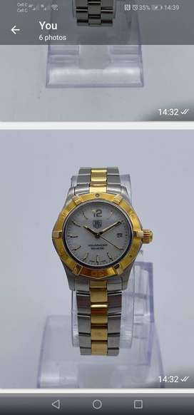 LADIES TAG HUER ACQUARACER TWO TONE