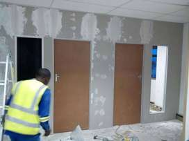 Drywalling  and Partitioning, building