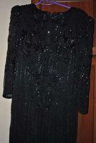 Вечернее платье в паетках и бусинках