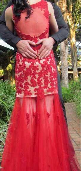 Beautiful Red Lace Dresd