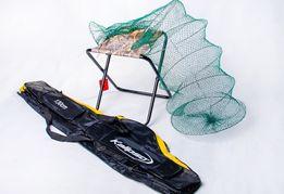 Чехол для удочек+ Садок для рыбы +стульчик Акция!