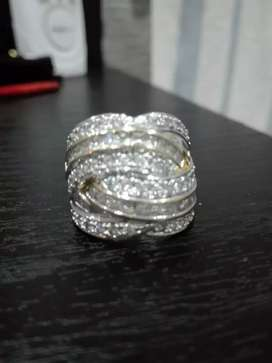 Stunning cubic silver and gold