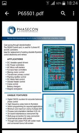 Phasecon regenerative control card