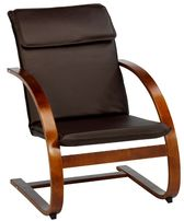 Крісло качалка Акція!!!до вітальні,спальні,прихожої еко.кожа,коричневе