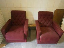 Fotele bordowe używane sprzedam