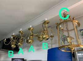 5 Gold Chandeliers | 2nd hand