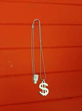 Dollar Pendant with Chain