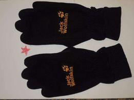 фирменные флисовые лыжные рукавицы Jack Wolfskin p.S