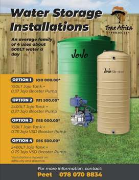 Water Storage Solutions for when the Municipality lets you down.