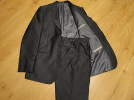 Grafitowy garnitur na szczupłego, wysokiego mężczyznę, wym. 182/100/88