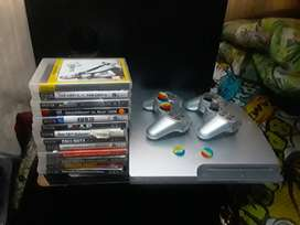Satin silver ps3 barely used,good condition