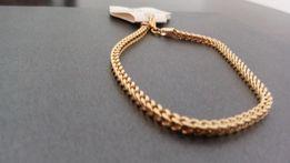 Złota bransoletka,Pozłacana bransoletka,14k,585,NOWA,316L,złoto,srebro
