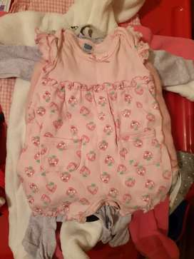 Baby girl clothing. Mix of winter and summer
