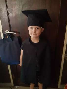 Graduation caps and gowns for kids x 12 sets