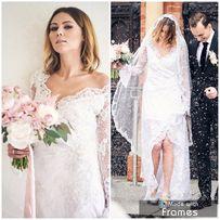 Suknia ślubna boho glamour POZERKI zień