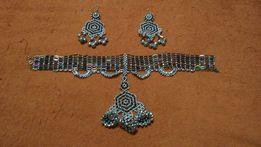 Украшение для индийских танцев, набор: колье, серьги, браслеты на руку