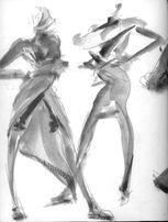 Обучение техники рисования эскизов одежды
