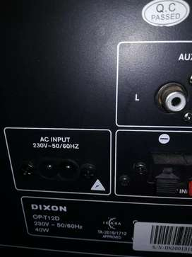 DIXON BLUETOOTH SPEAKER WITH REMOTE AND POWER CABLE