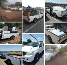Bakkie for hire for short and long distances in South Africa.