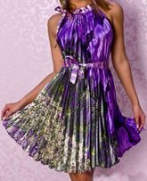 """Платье вечернее """"Na Dan Ge"""" сарафан гофре-плиссе с открытыми плечами"""
