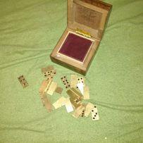 Domino na prezent - metalowe, bardzo ładne + kasetka