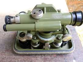 Rare Vintage Theodolite with tripod stand.
