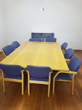 BOARDROOM TABLE AND 10 CHAIRS FOR SALE