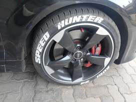 Original 18inch audi rs3 rotors for sale with new tyres