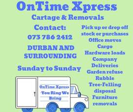 CARTAGE AND REMOVALS