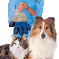 перчатка для вычесывания шерсти собакКошек trueTouch животных тру тач