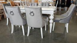 Krzesło krzesła chesterfield tapicerowane pikowane z kołatką glamour