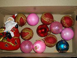 """Подсвечник (аромалампа) """"Дед Мороз""""+ёлочные игрушки"""